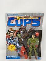 NEW 1988 VINTAGE HASBRO COPS N CROOKS CHECKPOINT ACTION FIGURE MOC
