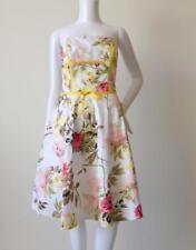 STUDIBAKER Women's Dress Made in Australia Strapless Floral Size 6 - 8 US 2 - 4