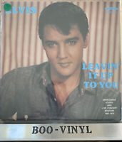 ELVIS PRESLEY - LEAVIN' IT UP TO YOU (1980 GERMAN IMPORT LP) - EX+ / EX+