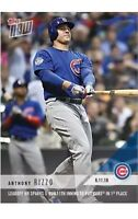 2018 Topps NOW MLB 311 CHICAGO CUBS Anthony Rizzo RARE ONLY 385 MADE!
