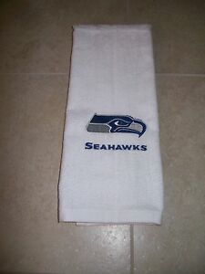 Personalized Embroidered Golf Bowling Workout Towel Seattle Seahawks