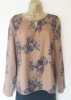 STUNNING NESS OF SCOTLAND MUSTARD BLOUSE SZ 10 IN VGC! EVENING,FLORAL