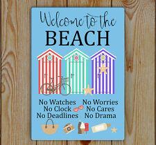 Beach Sign, Beach Plaque, Metal (Tin) Fun Beach Sign, Welcome To The Beach