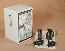 "Frank Kozik SIGNED 2"" Black Nickel Smorkin Mini Set LE 30 AUTOGRAPHED Labbit"