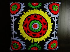 Indian Embroidered Cushion Cover Suzani Pillow Cases Boho Ethnic Shams Throw