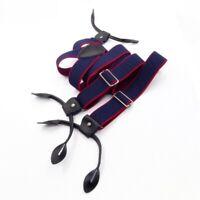 Suspender Straps Clips Flexible Gasket British Style Buttons Unisex Fresh Braces