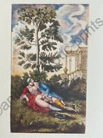 de Latouche Erotik Akt Erotic Couple Penis Sex Love Antique Nude Art Litho 1748