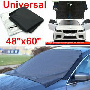 Car Windshield Snow Sun Cover Tarp Ice Scraper Frost Dust Removal Van SUV Truck