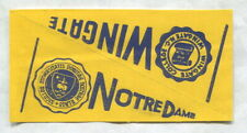 1961 NU-CARDS FOOTBALL PENNANT NOTRE DAME & WINGATE
