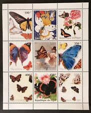 NIGER BUTTERFLY STAMPS SHEET 1999 MNH BUTTERFLIES INSECT WILDLIFE MONARCH BUG