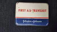 Vintage Johnson & Johnson First Aid TravelKit with Supplies