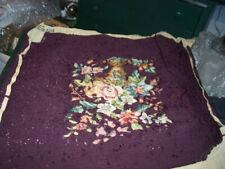 VINTAGE HOOKED CHAIR SEAT COVER