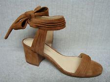 IVANKA TRUMP - EDLINE - Brown Suede Leather Sandals Heels - Size 8 M