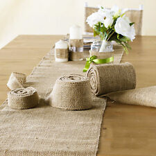 10 Hessian Table Runners Sewed Edge Wedding Table Decoration Vintage Shabby Chic