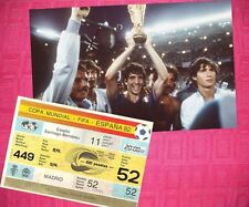 Italian Football World Cup Fixture Tickets & Stubs