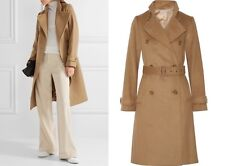 NWT vince wool cashmere blend trench camel coat size m