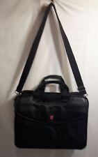 """Swiss Gear Wenger 17"""" Laptop Messenger Briefcase Shoulder Bag - Black"""