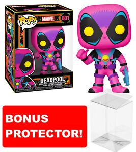 Marvel: Blacklight - Deadpool Blacklight Pop! Vinyl Figure 801 BONUS Protector