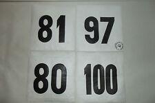 (28) 4 ANCIEN DOSSARD DE COUREUR CYCLISTE COURSE TOUR VÉLO BOURBOURG FRANCE 1970