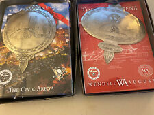 SET OF 2 CIVIC ARENA AUTHENTIC ROOF CHRISTMAS ORNAMENT PITTSBURGH PENGUINS New!