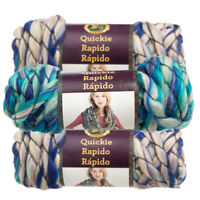3pk Lion Brand Quickie Acrylic Blend Yarn Super Bulky #6 Knitting Crochet Skeins