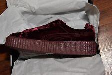BRAND NEW Size 10 US Women's Puma Creeper Rihanna Fenty bag purple burgundy