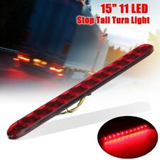 15'' Red 11 LED Sealed Trailer Stop Tail Turn Third Brake Light Bar 4 Wires