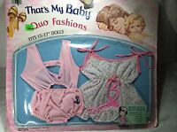 """Baby Doll Clothes Clothing Set of 2 15-17"""" Dolls Bears Vintage Romper Swimsuit"""