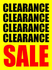 "CLEARANCE SALE 18""x24"" BUSINESS STORE RETAIL SIGNS"