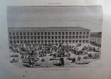 ANTIQUE ENGRAVED NEW GRANADA 1876 THE HOUSE OF BOGOTA 19th CENTURY PRINT 045CC