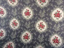 In Tela Cerata Tessuto, rivestito in PVC, Cammeo Posy design, colore grigio, per metro