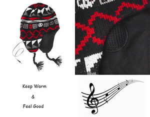 BEANIE HAT - WITH BUILT IN SPEAKERS HEADPHONES - MP3 iPOD iPHONE 3.5MM Musicwarm