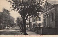 Postcard Main Street Penn's Grove NJ Showing Bank