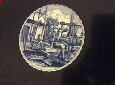 Delft Holland Collectors Plate - The Carpenter
