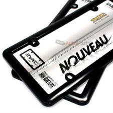 2 Plain Plastic ABS Black License Plate Tag Frames for Auto-Car-Truck