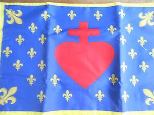 DRAPEAU   Français sacré coeur de jésus royal