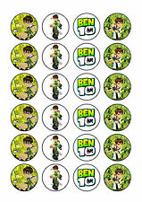 24 x Ben 10 Cup Cake Toppers Rice/Wafer Paper