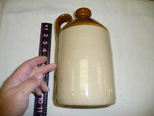 VINTAGE ANTIQUE BROWN & WHITE   WHISKEY JUG 11 X 5  INCHES PERFECT
