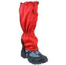 Waterproof Mountain Gaiters Ladies Red Walking Trouser Gator Hiking Boot Cover
