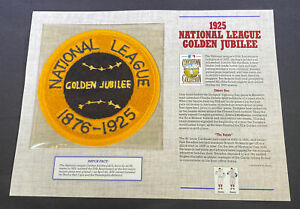 Willabee & Ward MLB 1925 National League Golden Jubilee Patch
