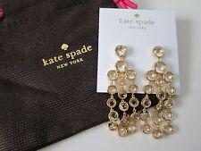 NWT Auth Kate Spade Subtle Sparkle Crystal Charm Chandelier Dangle Earrings $88