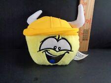 Disney CLUB PENGUIN PUFFLES Yellow Viking Hat Plush Stuffed Toy Doll Blue Tongue
