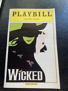 Wicked Broadway Playbill August 2004  IDINA MENZEL