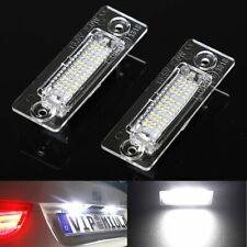 2Pcs 18 LED License Number Plate Light For VW Touran Golf Passat Jetta Caddy T5