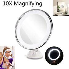 Espejo de Maquillaje con Luz LED Aumento de 10x  Ventosa chasis 360 Rotación