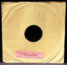 Pochette 78 trs / 78 RPM 25 cm Beurée-Laruelle, Paris EX