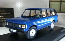 Modellini statici di auto , furgoni e camion blu marca WhiteBox pressofuso