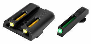 TRUGLO TG131GT1Y TFO BRITE SITE TRITIUM FIBER OPTIC HANDGUN SIGHT for Glock