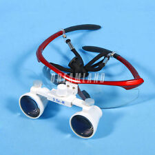 Dental Surgical Binocular Loupes Glasses Lens Magnifier 3.5X 420mm red in USA