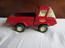 """Vintage 1970s Tonka Metal Tin Small 8.5"""" inch Red Pick Up Truck Cute Collectible"""